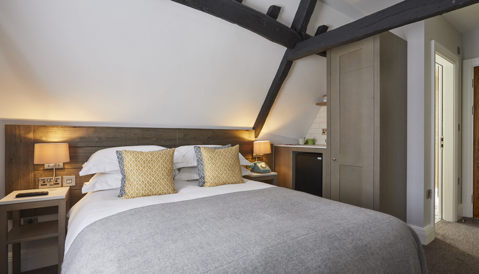Loft room at riverside hotel The Swan at Streatley