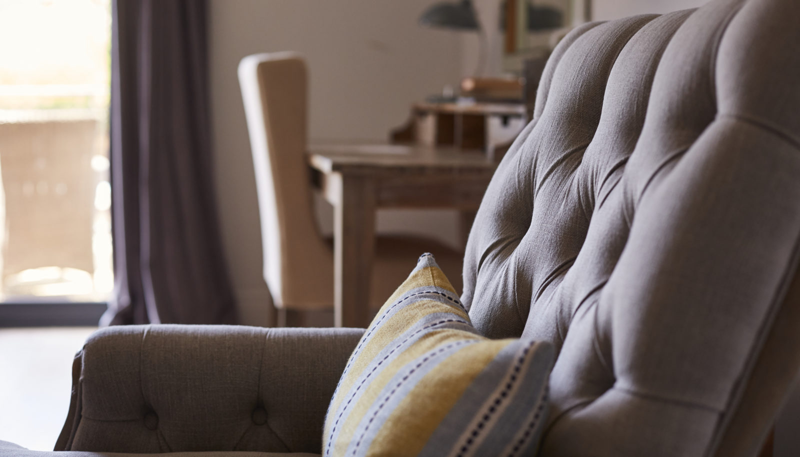 Armchair and furnishing Large double room at riverside Hotel the Swan at Streatley