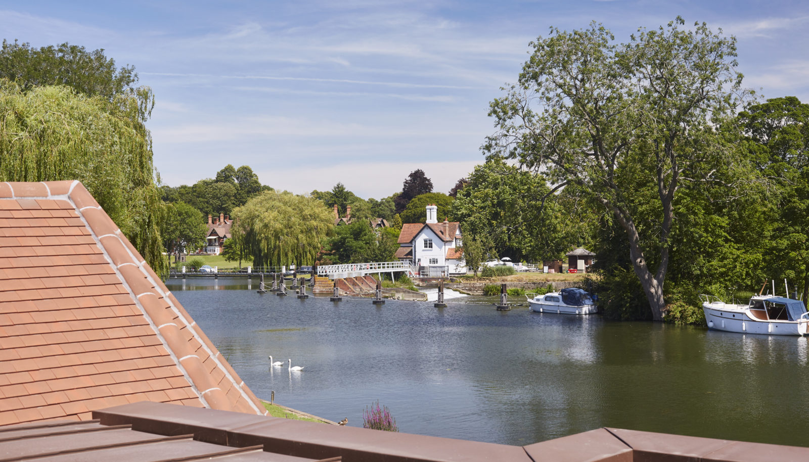 River view from Medium double room at the Swan at Streatley Hotel