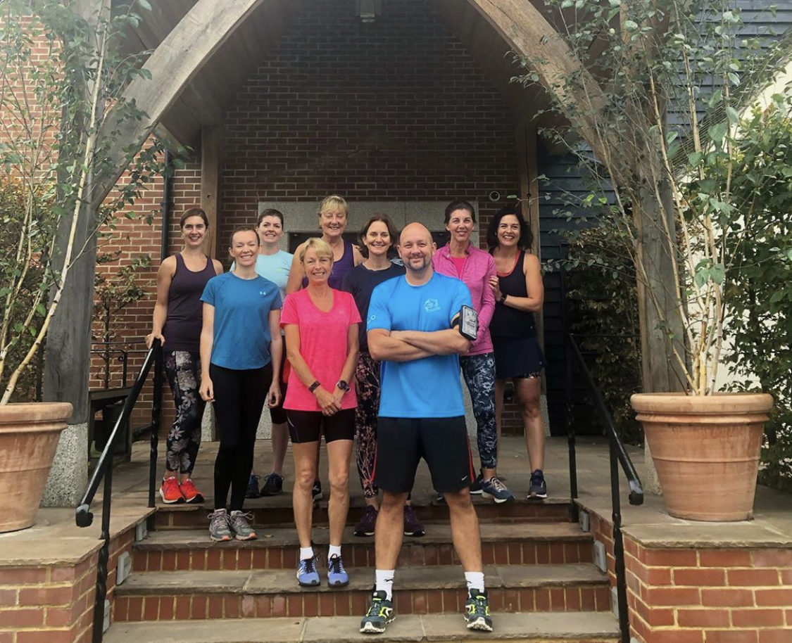 Gym members , Run club in front of Hotel entrance